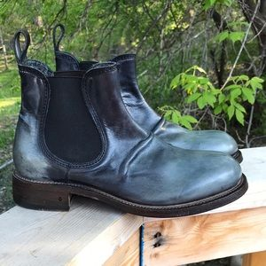 Rustic blue John Varvatos 9.5M Grand father boots